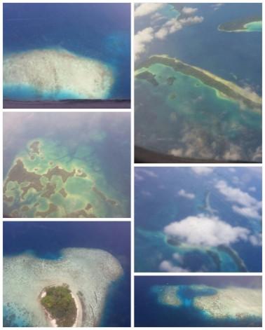 Flying over the Solomon Islands
