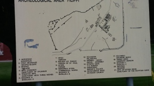 Map of the site at Philippi