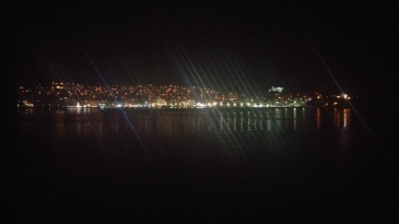 Kavala at Night from the Nissos Rhodos